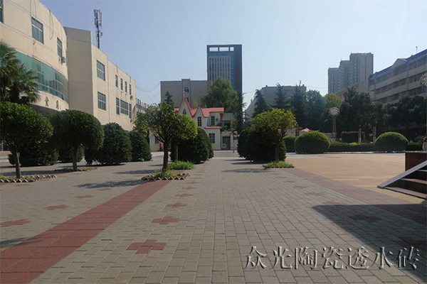 Application of Ceramic Pervious Brick in the Reconstruction of University Roads